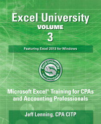 Excel University Volume 3 Book