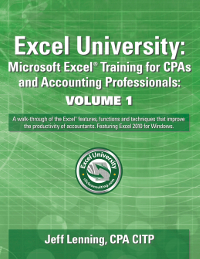 Excel University Volume 1 Book