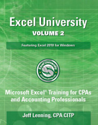 Excel University Volume 2 Book
